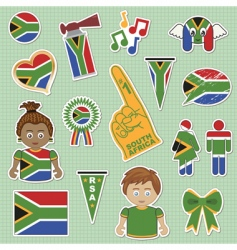 South africa supporter stickers vector