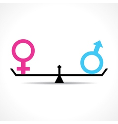 Male and female equality concept vector