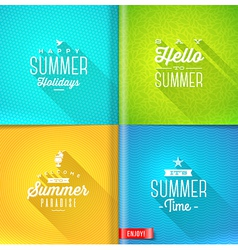 Booklet template - set of summer greeting sign vector
