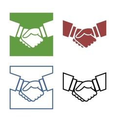 Business handshake set vector