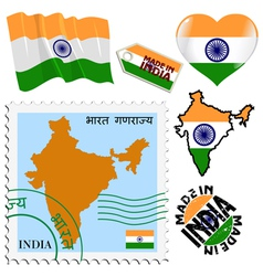 National colours of india vector