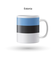 Estonia flag souvenir mug on white background vector
