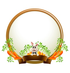 A round empty template with a rabbit vector