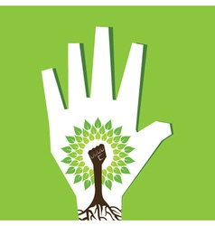 Unity hand make tree inside the tree vector