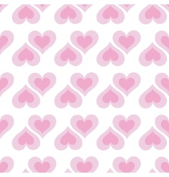 Pink hearts seamless bakground pattern vector