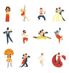 Dance icon flat vector