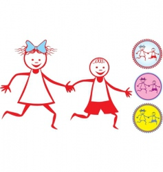 Children icon vector