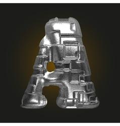 Metal figure a vector