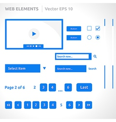 Web site elements template vector