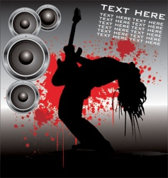 Rock star guitar vector