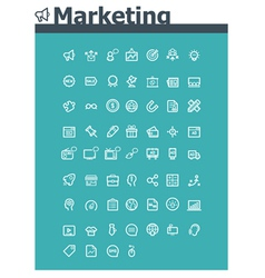 Marketing icon set vector