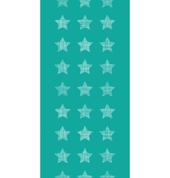 Stars textile textured green vertical seamless vector
