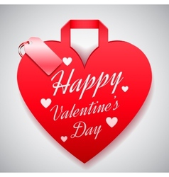 Valentines day shopping concept vector