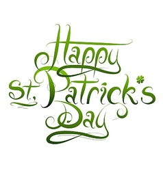 Patrick day calligraphy greetings vector