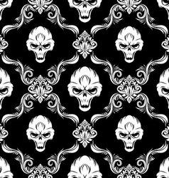 Skull decorative pattern vector