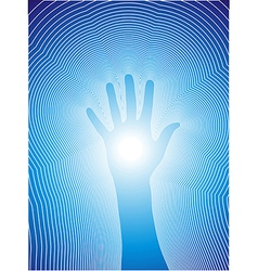 Healing hand with reiki lines vector