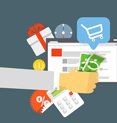 Modern digital shop concept flat design vector