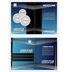 Brochure design template abstract vector