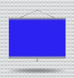 Meeting room screen projector vector