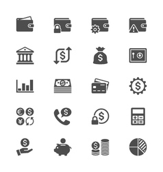 Financial management flat icons vector