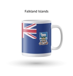 Falkland islands flag souvenir mug on white vector