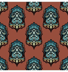 Vintage damask floral seamless design vector