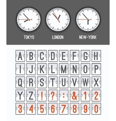 Airport arrival table alphabet vector