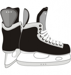 Ice hockey skates boots vector