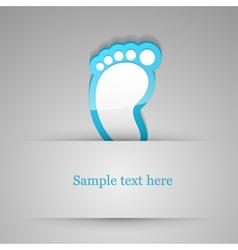 Footprint sticker vector