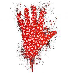 Stop words gesture design element vector
