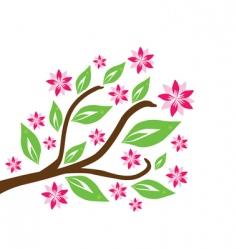 Floral branch vector