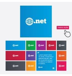Domain net sign icon top-level internet domain vector