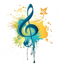 Music clef vector