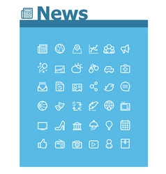 News icon set vector