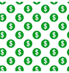 Dollar sign seamless pattern on white background vector