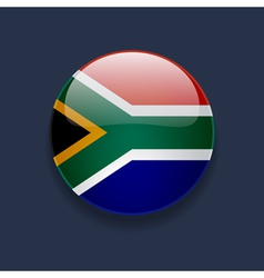 Round icon with flag of south africa vector