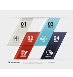 Business step paper data and numbers design vector