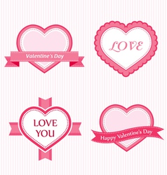 Valoentine collection of labels vector