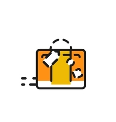 Color line icon for flat design luggage vector