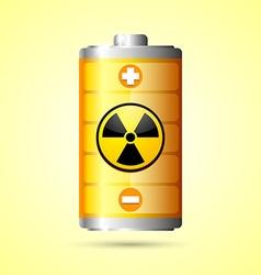 Nuclear energy icon vector