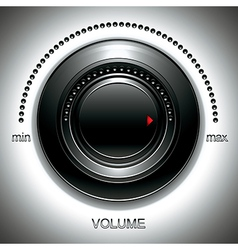 Black volume knob vector