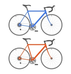 Two color bicycle on white background vector