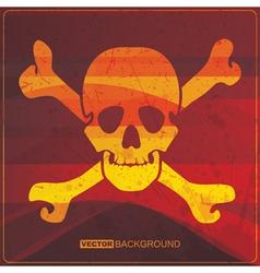 Skull on grunge background vector