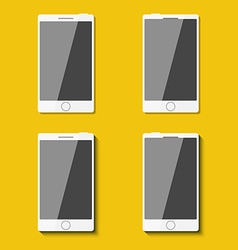Set of phones in flat style with shadows vector