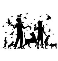 Animal children vector