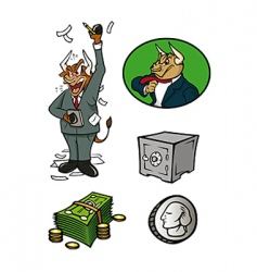 Finance collection vector
