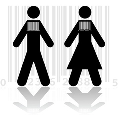 Barcode in people vector