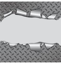 Torn metal vector