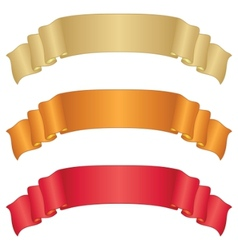 Banners ribbons set vector