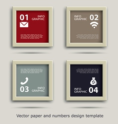 Paper and numbers icon communication design vector